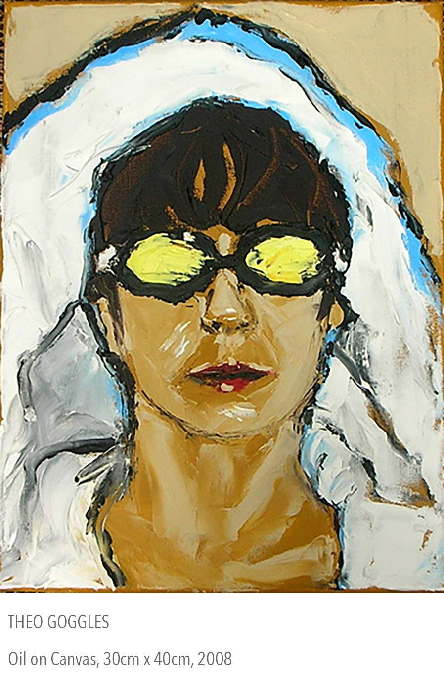 2008 oil painting called Theo Goggles