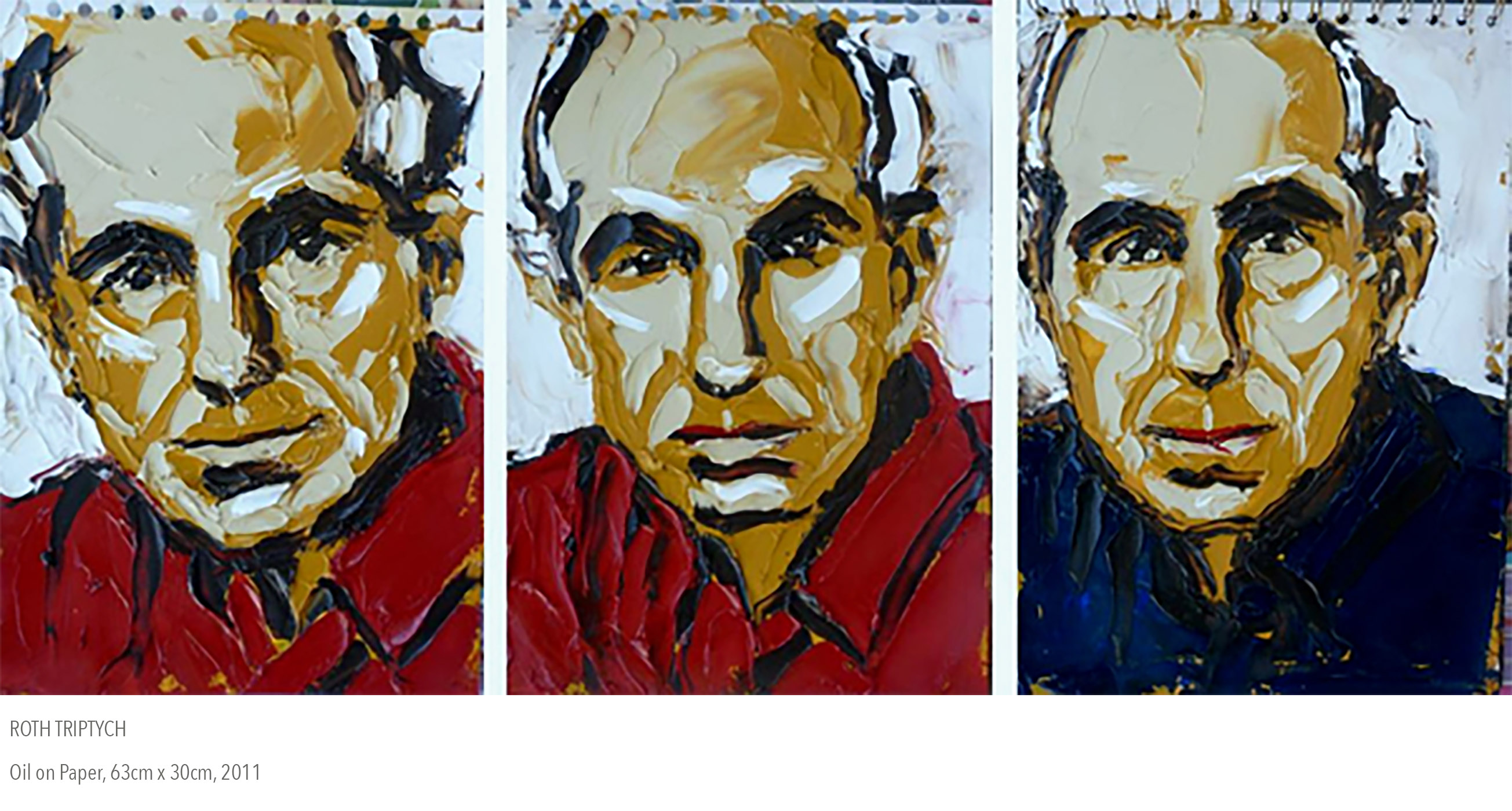 2011 oil painting called Roth Tryptych