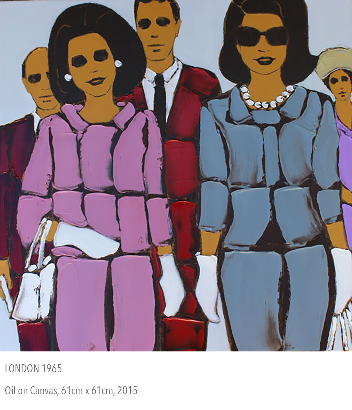 2015 oil painting called London 1965