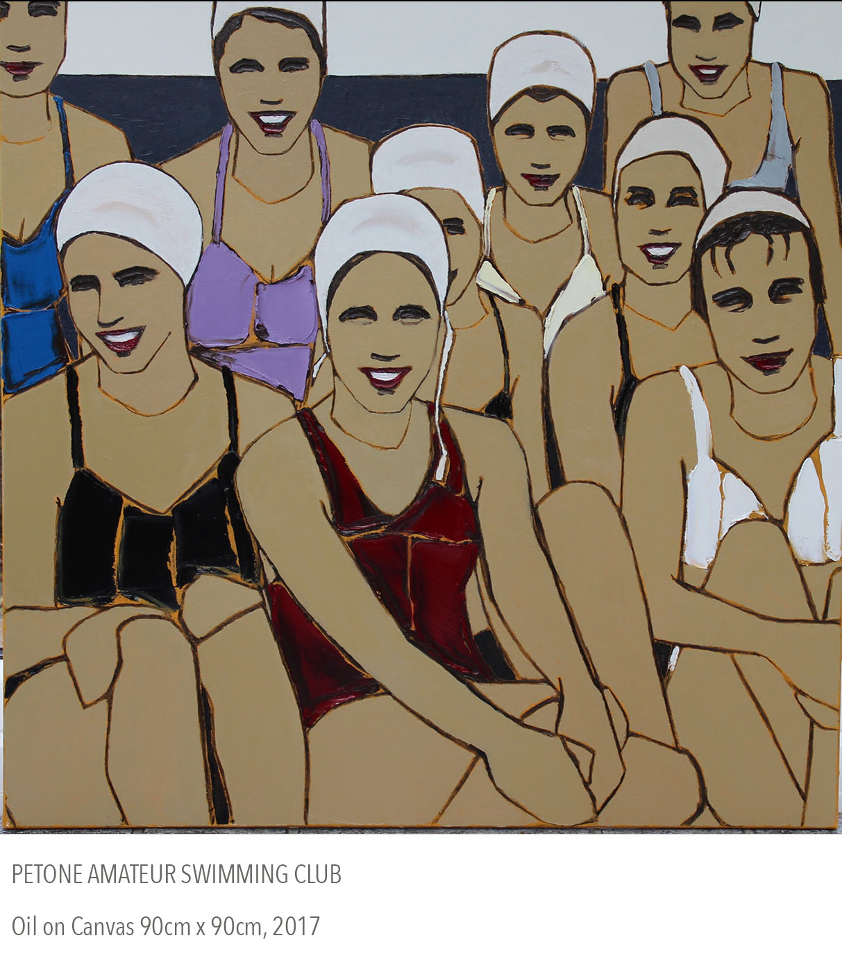 2017 oil painting called Petone Amateur Swimming Club